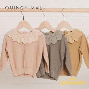 <img class='new_mark_img1' src='https://img.shop-pro.jp/img/new/icons1.gif' style='border:none;display:inline;margin:0px;padding:0px;width:auto;' />【Quincy Mae】 PETAL KNIT SWEATER 【6-12か月/12-18か月/18-24か月/2-3歳】 PETAL BASIL HONEY 3色 QM062 AW21 YKZ