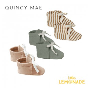 <img class='new_mark_img1' src='https://img.shop-pro.jp/img/new/icons1.gif' style='border:none;display:inline;margin:0px;padding:0px;width:auto;' />【Quincy Mae】 BABY BOOTIES | WALNUT STRIPE   全3色【0-3か月/3-6か月】 ベビーシューズ ブーティー AW21 QM018 YKZ