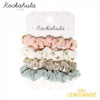 <img class='new_mark_img1' src='https://img.shop-pro.jp/img/new/icons1.gif' style='border:none;display:inline;margin:0px;padding:0px;width:auto;' />【Rockahula Kids】 Scattered Stars Scrunchie Set-MULTI スター柄 シュシュ4個セット ヘアゴム ヘアアクセサリー  (H1643M)