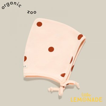 <img class='new_mark_img1' src='https://img.shop-pro.jp/img/new/icons1.gif' style='border:none;display:inline;margin:0px;padding:0px;width:auto;' />【organic zoo】 Sunkiss Dots Bonnet 【新生児/0-3か月/3-6か月/6-12か月】  ドット柄 オーガニックズー  SDPIXIE 21AW
