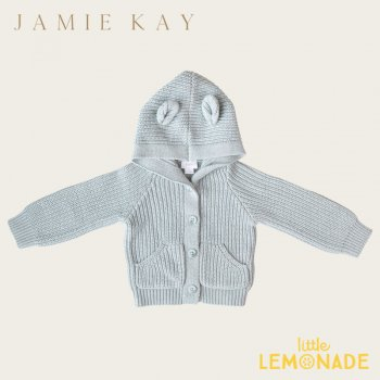 <img class='new_mark_img1' src='https://img.shop-pro.jp/img/new/icons1.gif' style='border:none;display:inline;margin:0px;padding:0px;width:auto;' /> 【Jamie Kay】 BEAR CARDIGAN - MINERAL MARLE  【6-12か月/1歳/2歳】 ベアカーディガン ブラウン ニット 21AW