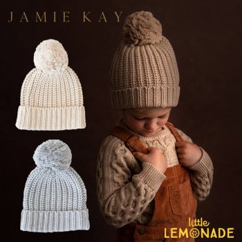 【Jamie Kay】 COSY HAT - PEPPER MARLE /  BIRCH MARLE 【0-2歳/2歳以上】 ベビー用 子供用 ニット帽 帽子 オートミール ジェイミーケイ