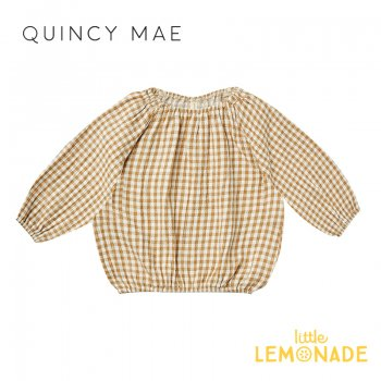 <img class='new_mark_img1' src='https://img.shop-pro.jp/img/new/icons1.gif' style='border:none;display:inline;margin:0px;padding:0px;width:auto;' />【Quincy Mae】 CINCH LONGSLEEVE TEE | HONEY GINGHAM 【12-18か月/2-3歳】 QM050HRY  AW21 長袖 シャツ YKZ