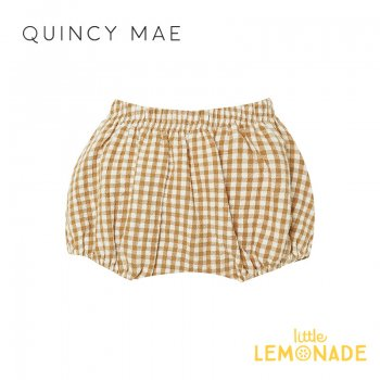 <img class='new_mark_img1' src='https://img.shop-pro.jp/img/new/icons1.gif' style='border:none;display:inline;margin:0px;padding:0px;width:auto;' />【Quincy Mae】 WOVEN BLOOMERS HONEY GINGHAM   【6-12か月/12-18か月/18-24か月】 QM041HRY AW21 ブルマ クインシーメイ YKZ