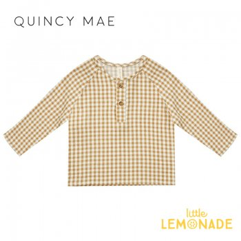 <img class='new_mark_img1' src='https://img.shop-pro.jp/img/new/icons1.gif' style='border:none;display:inline;margin:0px;padding:0px;width:auto;' />【Quincy Mae】 ZION SHIRT HONEY GINGHAM   【6-12か月/12-18か月/18-24か月】 QM097HRY  AW21 長袖 シャツ YKZ