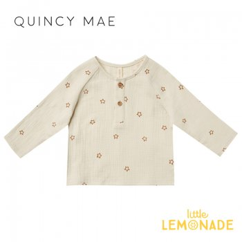 <img class='new_mark_img1' src='https://img.shop-pro.jp/img/new/icons1.gif' style='border:none;display:inline;margin:0px;padding:0px;width:auto;' />【Quincy Mae】ZION SHIRT | STARS  【6-12か月/12-18か月/18-24か月】 QM097AL AW21 星柄 長袖 シャツ YKZ