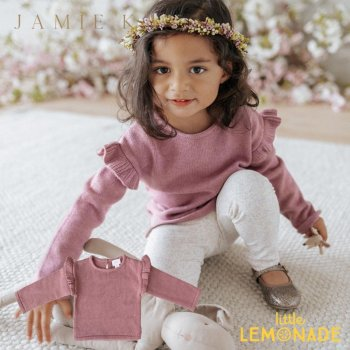 <img class='new_mark_img1' src='https://img.shop-pro.jp/img/new/icons1.gif' style='border:none;display:inline;margin:0px;padding:0px;width:auto;' />【Jamie Kay】 FLUTTER KNIT - ASH ROSE MARLE  【1歳/2歳/3歳】 トップス 長袖 ジェイミーケイ  21AW