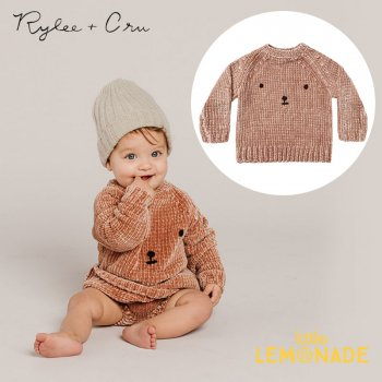 <img class='new_mark_img1' src='https://img.shop-pro.jp/img/new/icons1.gif' style='border:none;display:inline;margin:0px;padding:0px;width:auto;' />【Rylee+Cru】 CHENILLE SWEATER BEAR 【18-24か月/2-3歳】 RC146DR 21AW ニット セーター トップス くま ykz