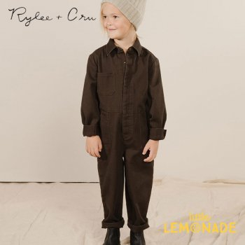 <img class='new_mark_img1' src='https://img.shop-pro.jp/img/new/icons1.gif' style='border:none;display:inline;margin:0px;padding:0px;width:auto;' />【Rylee+Cru】 COVERALL JUMPSUIT VINTAGE BLACK 【4-5/6-7/8-9歳】 RC349CK 21AW 黒 つなぎ ジャンプスーツ ykz