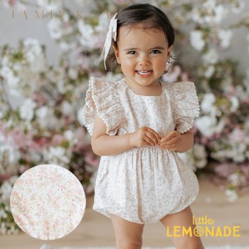 <img class='new_mark_img1' src='https://img.shop-pro.jp/img/new/icons1.gif' style='border:none;display:inline;margin:0px;padding:0px;width:auto;' />【Jamie Kay】 STELLA PLAYSUIT - NATURAL LIMONIUM FLORAL 【6-12か月/1歳】  ロンパース プレイスーツ 花柄 ジェイミーケイ