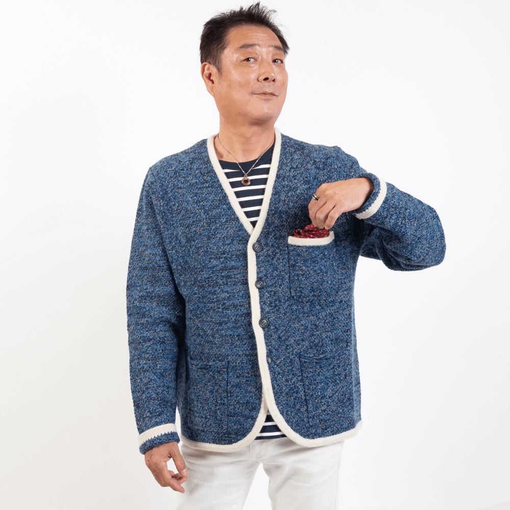 【3色】三つ杢パイピングジャケット【hbkk】