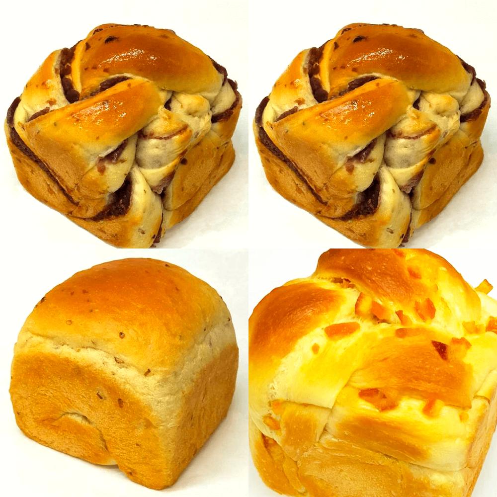 神戸麦の星 食パン 2斤セット(玄米あん食パン×2・玄米食パン・オレンジピール食パン)【パン以外の商品との同時購入不可】