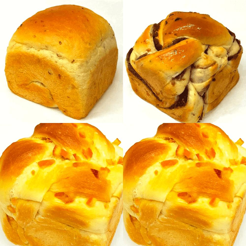 神戸麦の星 食パン 2斤セット(オレンジピール食パン×2・玄米食パン・玄米あん食パン)【パン以外の商品との同時購入不可】