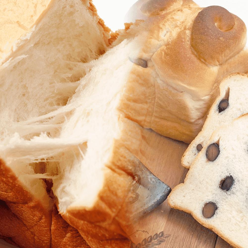 神戸麦の星 食パン2斤セット(プレーン・黒豆)【パン以外の商品との同時購入不可】