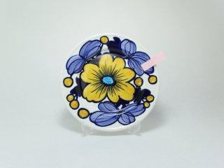 ライヤ・ウオシッキネン 手書き 黄色の花 ディナープレート20cm