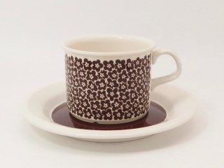 ファエンツァ(Faenza)ブラウン コーヒーカップ&ソーサー *訳あり