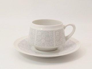 ピトゥシ (Pitsi) グレー / コーヒーカップ&ソーサー *複数在庫