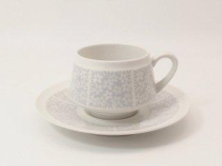 ピトゥシ (Pitsi) グレー / コーヒーカップ&ソーサー *訳あり *複数在庫