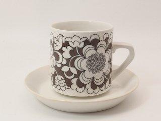 ガーデニア(Gardenia) / コーヒーカップ&ソーサー *訳あり