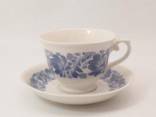 ブルーのお花 / カップ&ソーサー *複数在庫
