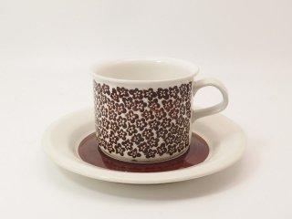 ファエンツァ(Faenza)ブラウン / コーヒーカップ&ソーサー *複数在庫