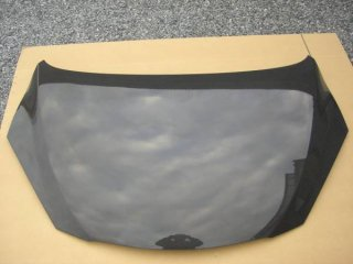 デミオDE系用トヨシマクラフト製綾織りカーボンボンネット