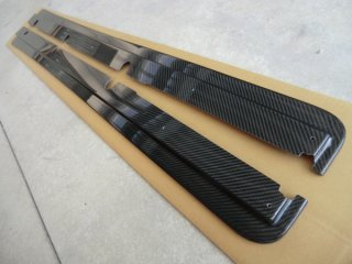 S2000用トヨシマクラフト製綾織カーボンサイドステップ