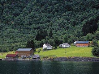 フィヨルドに抱かれた集落(Norway,Gudvangen)