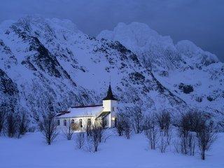 真冬の聖堂(Norway,Lofoten)