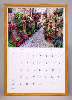 カレンダー額(ナチュラル)