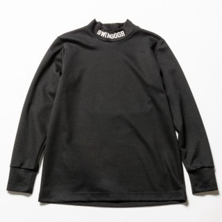 <img class='new_mark_img1' src='https://img.shop-pro.jp/img/new/icons13.gif' style='border:none;display:inline;margin:0px;padding:0px;width:auto;' />MOCK NECK LONG TEE, Black