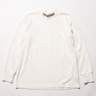 <img class='new_mark_img1' src='https://img.shop-pro.jp/img/new/icons13.gif' style='border:none;display:inline;margin:0px;padding:0px;width:auto;' />MOCK NECK LONG TEE, White