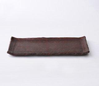 鉄赤 長角皿 (長)