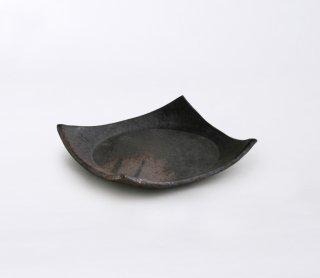 黒灰 正角皿