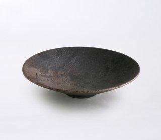 黒灰 高台皿
