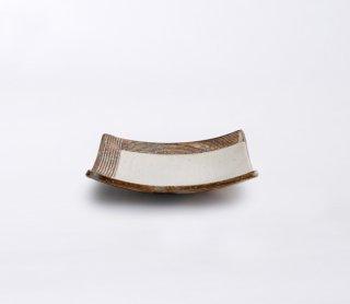 L彫 4.5寸四方深皿