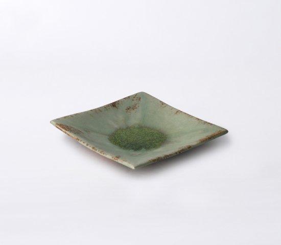 緑伊良保 角皿(中)