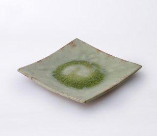 緑伊良保 角皿(大)