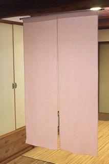 無地染め麻「ピンク」 縦150cm×横90cm