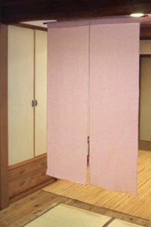 無地染め麻「ピンク」 縦120cm×横90cm
