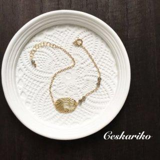 14KGF Curve pattern Bracelet