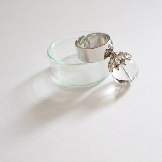 Silvercolor crystal  ring