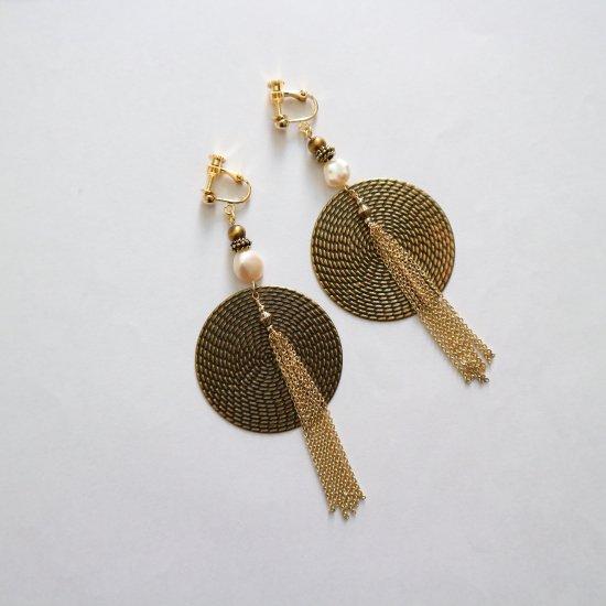 Big circle&tassel earring(pierce)