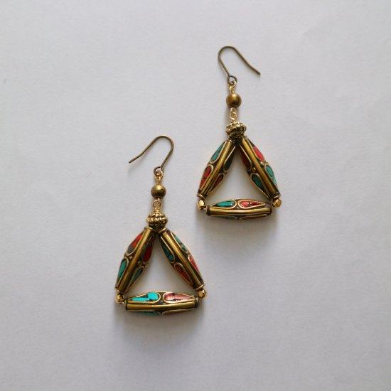 Nepalbeadsのtriangle pierce(earring)