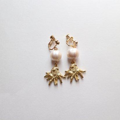 タコと真珠の耳飾り〜イヤリング/ピアス〜