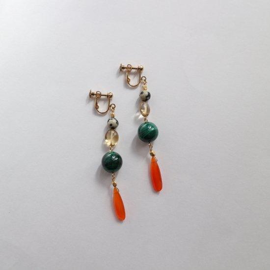 Colorful stone earring(pierce)