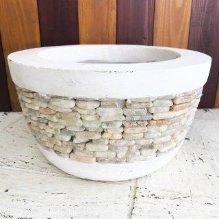 バリ産 Masonry pot A 底穴あり・受け皿なし φ32×H80�