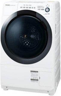 シャープ  ドラム式 洗濯乾燥機 ヒーターセンサー乾燥 左開き(ヒンジ左) 洗濯7kg/乾燥3.5kg ホワイト系  ES-S7D-WL 4974019113432
