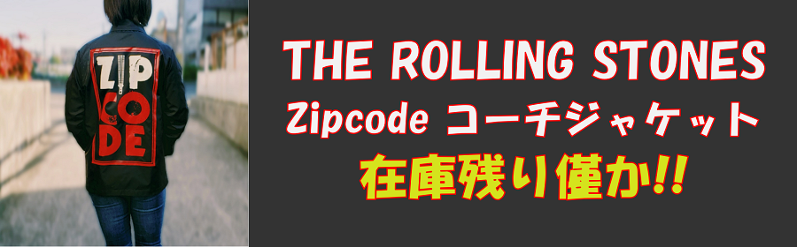 THE ROLLING STONES Zipcode コーチジャケット