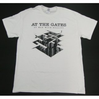 AT THE GATES At War With Reality White, Tシャツ